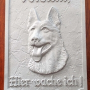 Aluminiumschriftschild