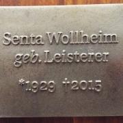 Grabtafel Senta Wollheim