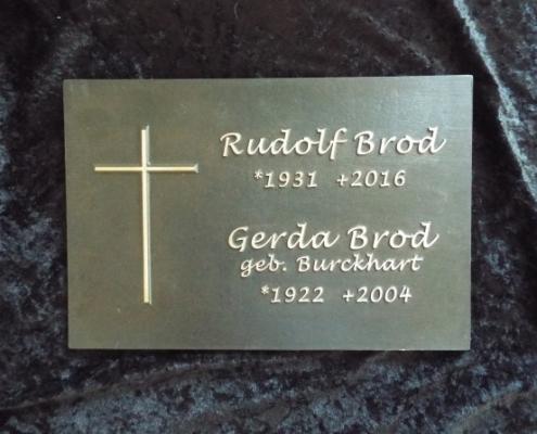 Grabtafel Rudolf Brod