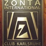 Unternehmensschild für www.zonta-karlsruhe.de