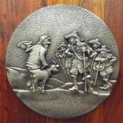 Bildguss 400mm Durchmesser; Material: Bronze (GBZ10); Gewicht: 10,55 kg
