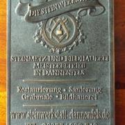 Unternehmensschild Steinwerkstatt Dannenfels