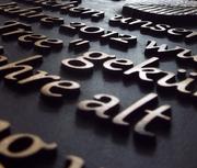 Schrifttafel aus Bronze